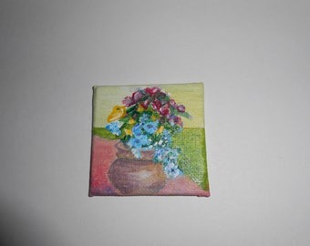 Miniature Flowers Painting