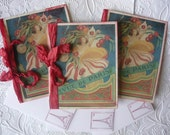 5 Lovely Gala French Vintage Advertising Collage Redeux.....by Le French Chateau