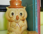 Vintage One of a Kind Baby or Child's Mr Owl Night Light Lamp