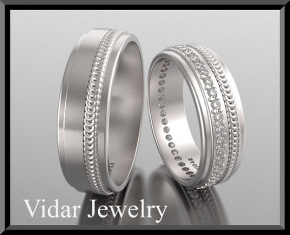 his and hers 14k matching wedding bands setunique matching wedding bandseternity matching - His And Hers Matching Wedding Rings