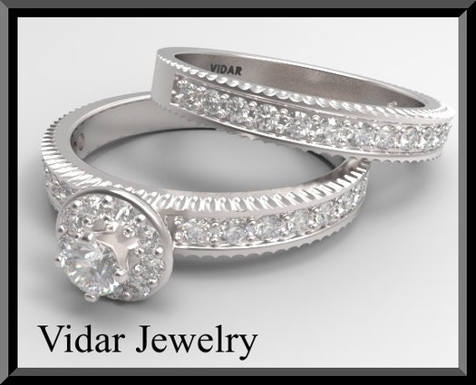 unique diamond wedding ring set wedding bridal engagement