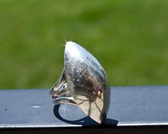 Geometric Art Deco Peruvian Silver Ring