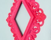 Hot Pink & Lacquered Fancy Upcycled Baroque/Rococo Open Frame