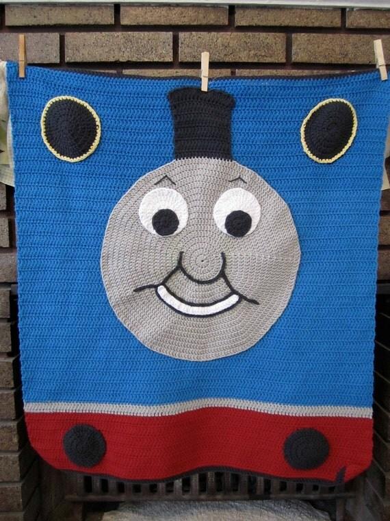 Knitting Pattern Train Blanket : Crochet Thomas the Train blanket