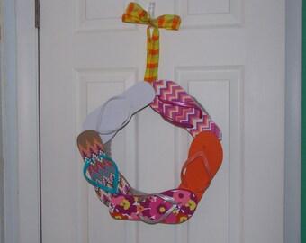 """14"""" Flip Flop Wreath"""