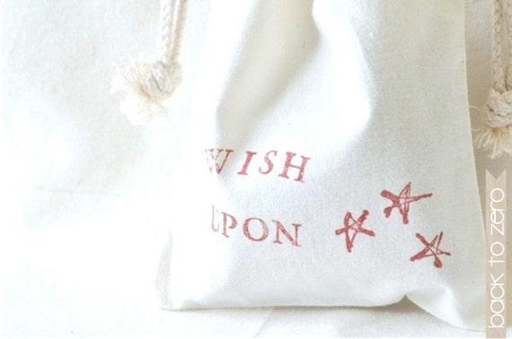 Drawstring Cotton Bag - Wish Upon Stars