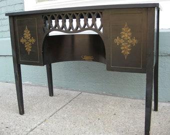 Windsor Company Ebonized Sewing Machine Table