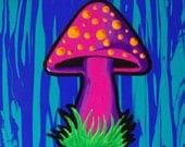 Shroom mushroom painting 6 x 8