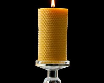 Pure Beeswax Pillar, Honey
