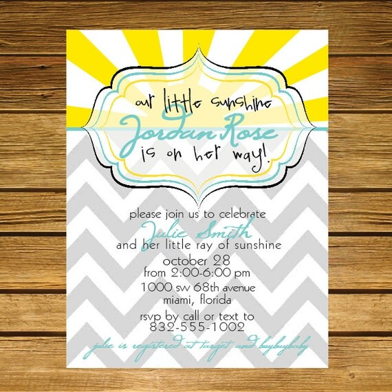 items similar to you are my sunshine baby shower invitation on etsy