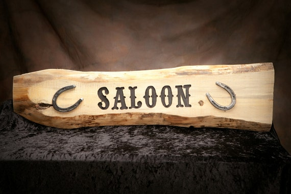 Custom carved rustic sign,  carved western sign, pub sign, personalized western sign.