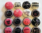 Bachelorette  Buttons - 1 Inch