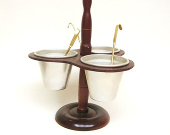 Vintage Condiment Caddy with Ladles