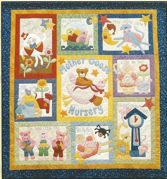 10 Applique Nursery Rhyme Patterns Mother Goose Nursery