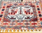 Square Tribal Tapestry Rug   --  3 ft. by 3 ft.