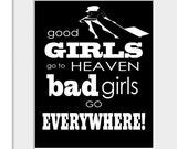 Good Girls - A4 Typographic Print