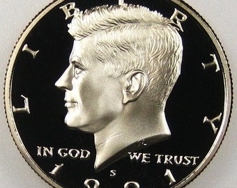 1991 S Proof  Collectible Kennedy Half Dollar