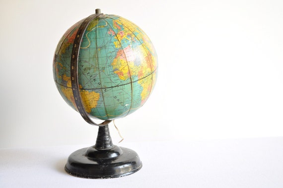 Reserved for Christina. Vintage Illuminated World Globe