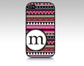 Aztec Monogrammed Chevron Personalized iPhone 5 Case, iPhone Cover