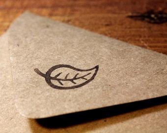 Mint Leaf Rubber Stamp