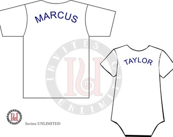 Individual lettering for shirt
