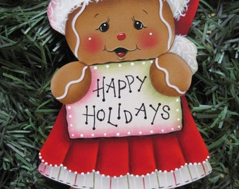 Happy Holidays Gingerbread E-Pattern