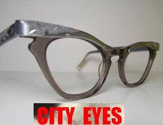 1950s Aluminum Cat Eyes optical frames for Eyeglasses or Sunglasses NEW OLD STOCK