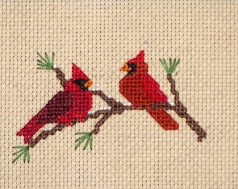 Cardinals Cross Stitch PDF Pattern