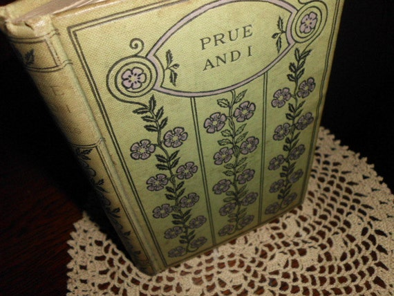 Vintage Prue and I book by George William Curtis life in 1800s