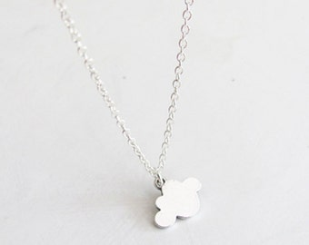 Cloud Necklace - Thin Necklace - Simple Necklace - Dainty Necklace - Light Necklace - Small Necklace
