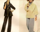 """A Designer Pullover, Roll-Up Sleeve Tunic Top, and Classic Straight Leg Pants Pattern for Women: Uncut - Size 10, Bust 32-1/2"""" • Vogue 1792"""