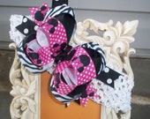 Minnie Mouse Inspired Pink Zebra Stacked Over The Top Boutique Hair