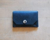 Elegant leather coin case - Eco money purse - card holder - Mr Black  - men - I WAS A COUCH - go upcycling