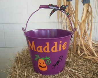 Personalized Trick-or-Treat Bucket