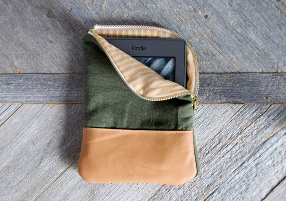 Linen & Leather Kindle Case: For your Kindle Touch or Kindle