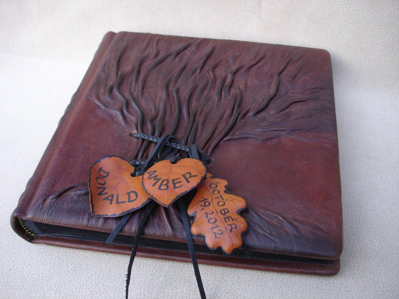 Leather Photo Album Tree Of Life Wedding Photo Album