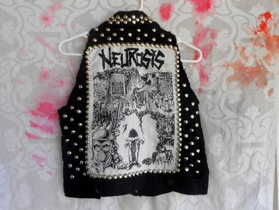 crust punk neurosis vest