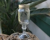 Custom Etched Redneck Style Wine Glass