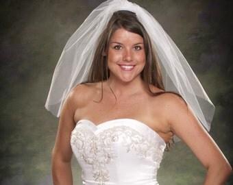 Light Ivory Bridal Veils Shoulder Length 24 Tulle Veils 1 Layer White Wedding Veils Diamond White Veil One Tier