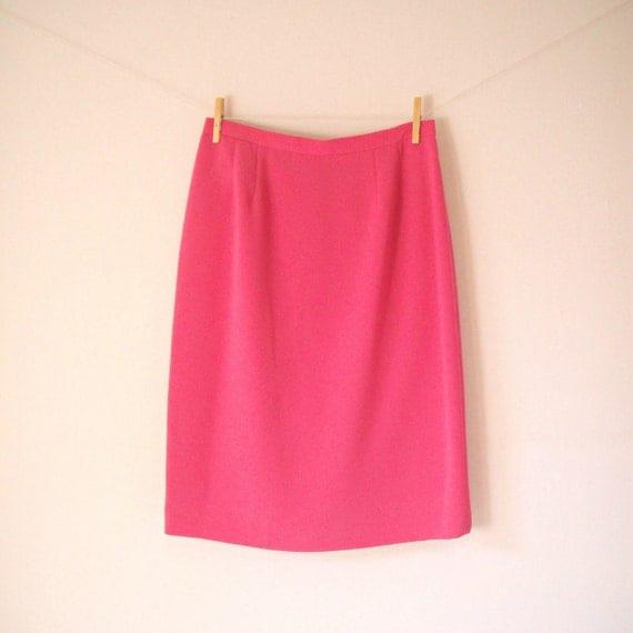 vintage 60 s mod bubblegum pink pencil skirt by gypsyplunder