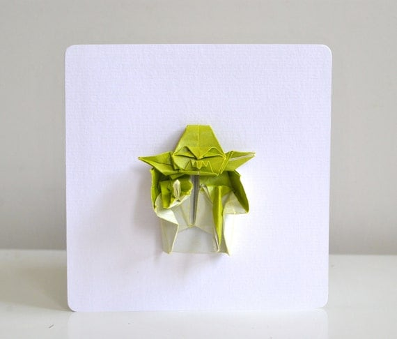Origami yoda birthday card starwars themed