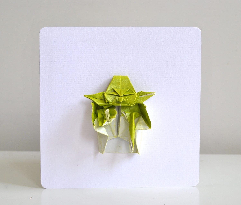 Origami Yoda Birthday Card StarWars Themed Card By