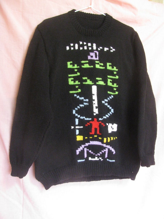 Arecibo Message Hand Knitted Sweater - HALF PRICE