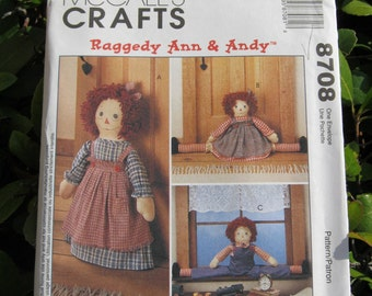 Uncut Pattern - McCalls 8708 - Red Headed Draftbusters and Doorstop with Clothes Pattern