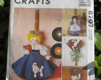 Uncut Pattern - McCalls 8707 -  Broom Doll Pattern