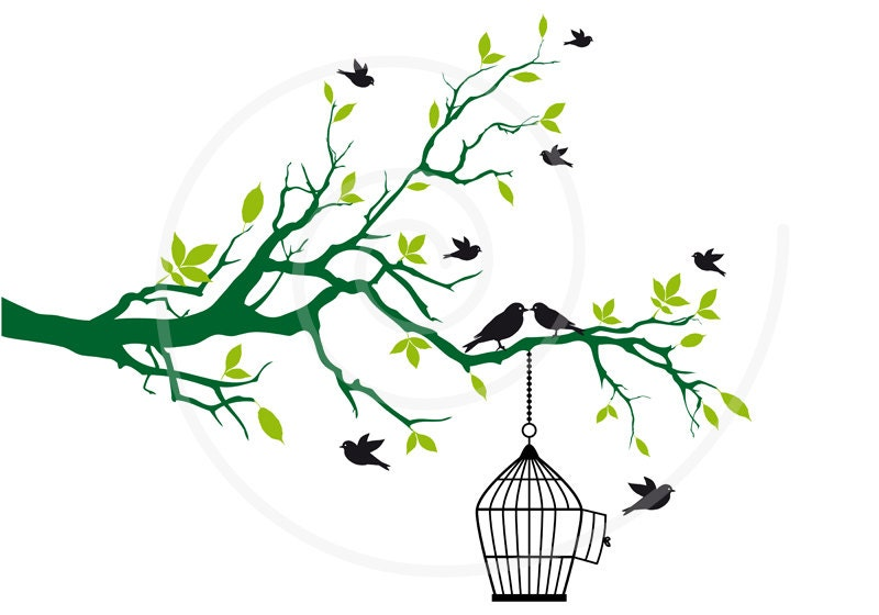 tree with birds clipart - photo #6