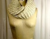 Chunky Wheat Hand Knitted Infinity Scarf