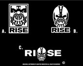 The Dark knight Rises Inspired - Bane Sticker Trio (choose a decal)