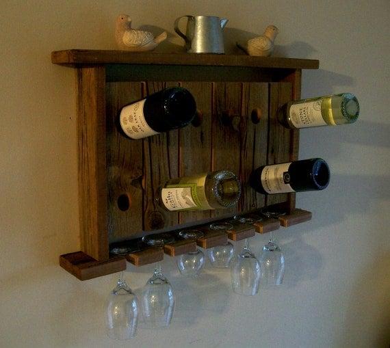 wine rack wine glass holder wall shelf riddling rack rustic. Black Bedroom Furniture Sets. Home Design Ideas