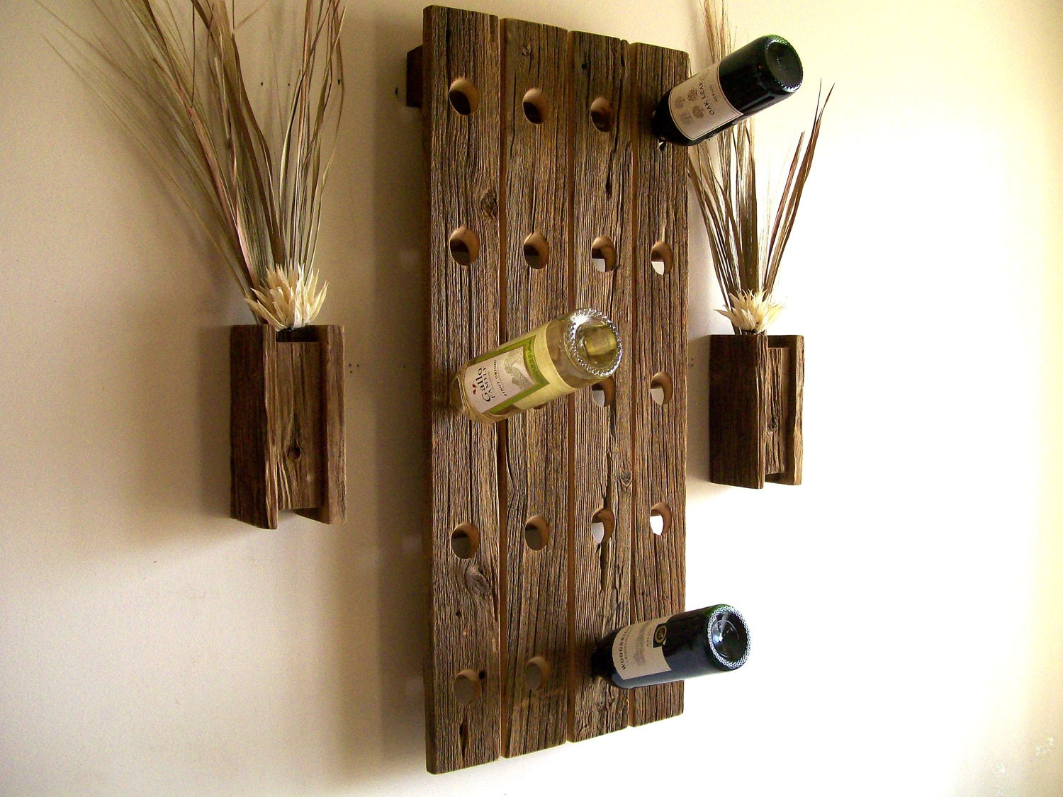 barnwood wine rack wine rack rustic reclaimed barn wood riddling rack 1489